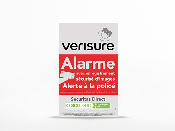 Plaque dissuasive Verisure