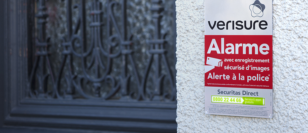 "7 autocollants dissuasifs /"" verisure /"" sticker alarme sécurité protection"